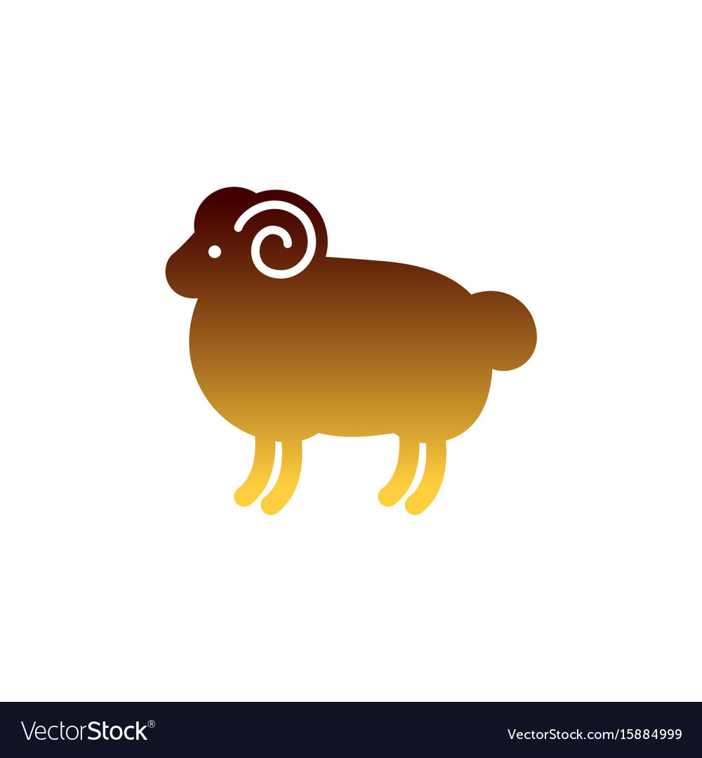 Color stylized drawing of ram vector image