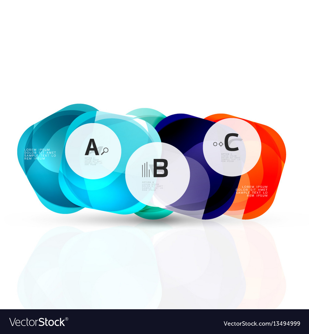 Glass glossy abstract stones with text abstract vector image