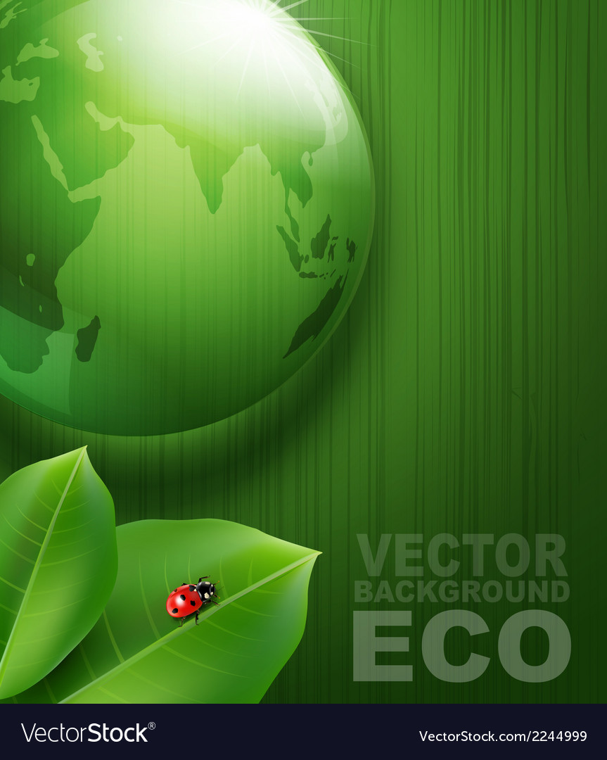 Green background on environmental issues