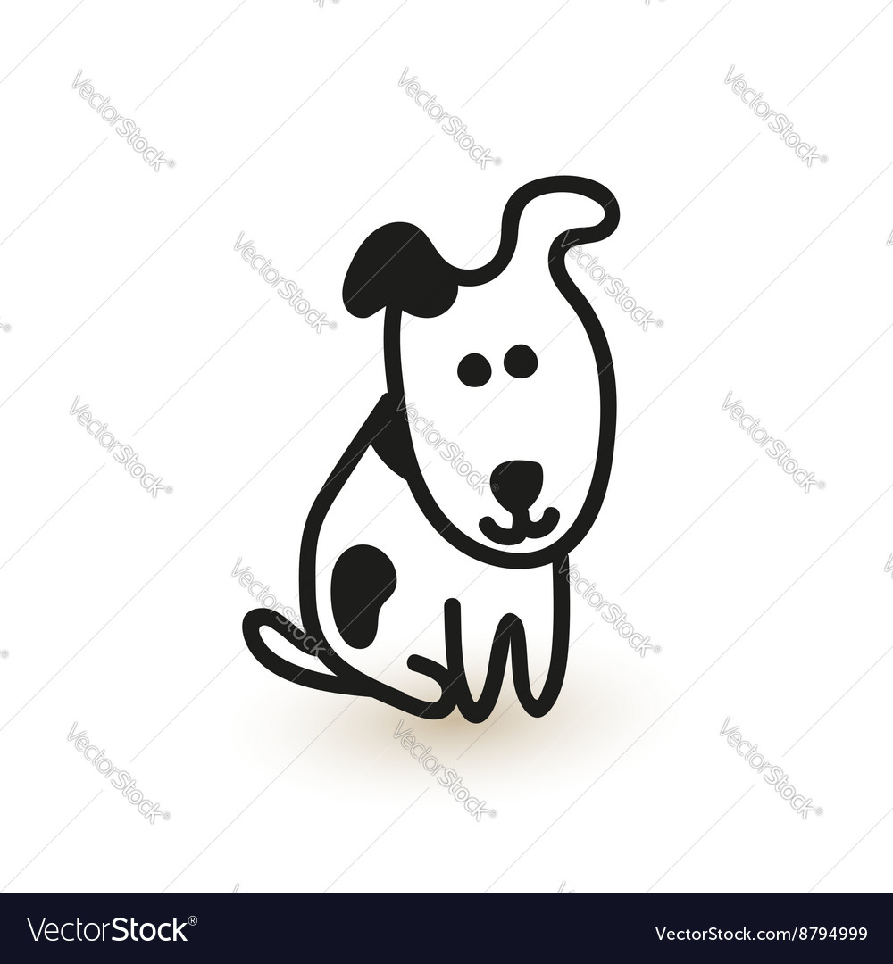 Little Cute Puppy Sketch Royalty Free Vector Image