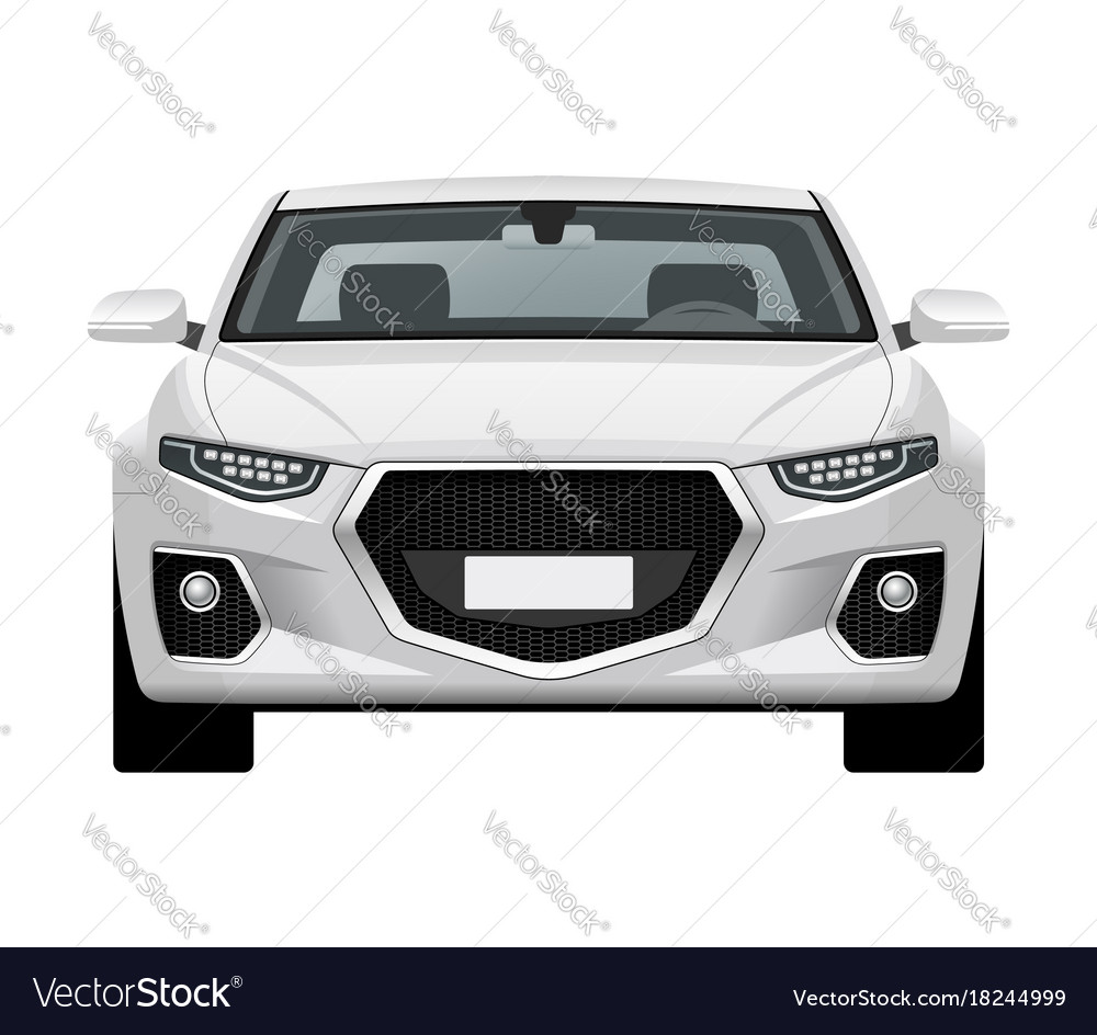 Modern Generic Car Front View Royalty Free Vector Image