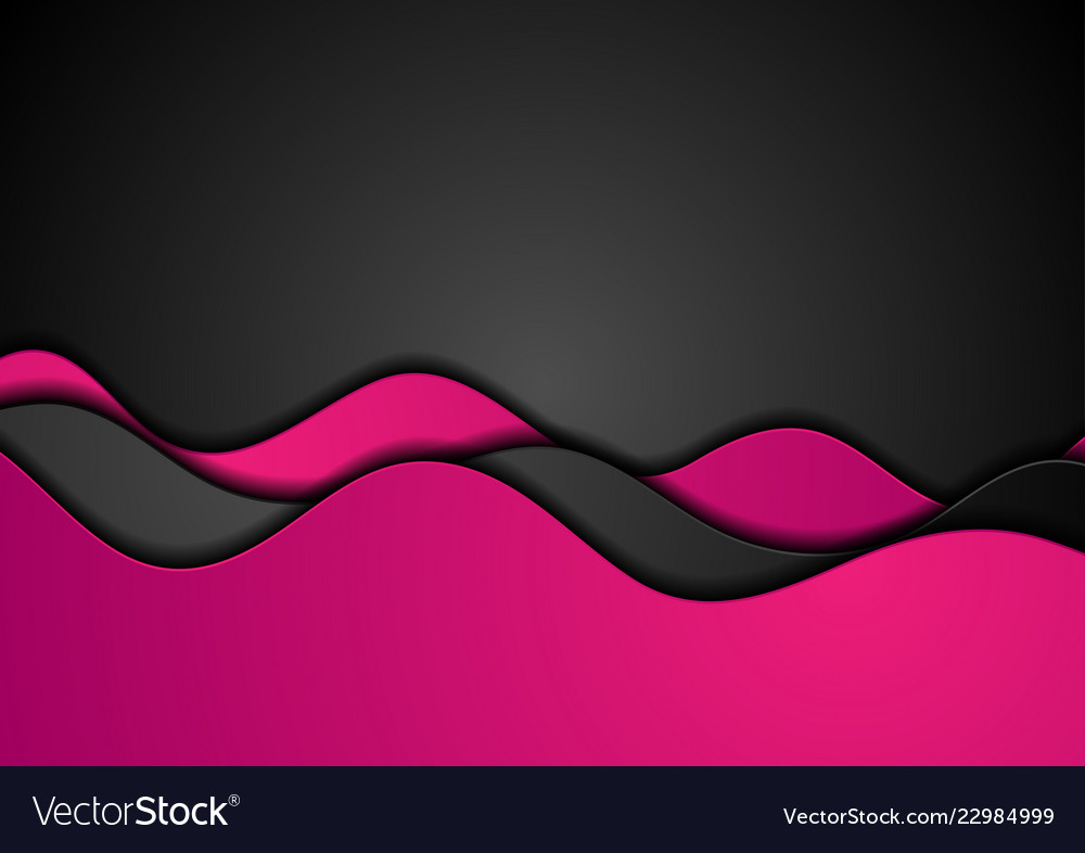 Pink black corporate waves abstract background Vector ImagePink And Black Background Vector Designs