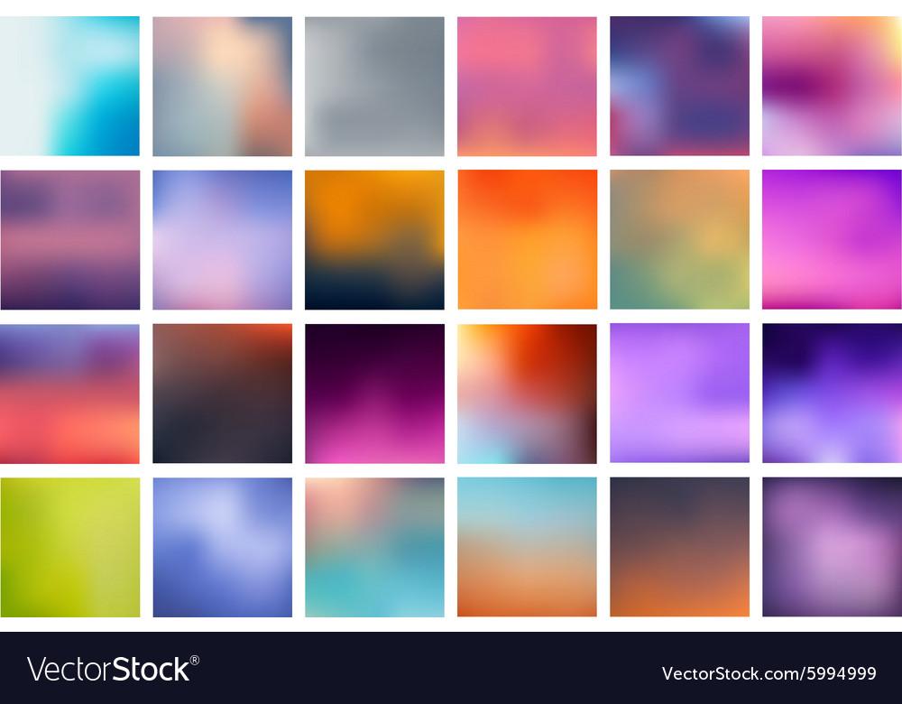 Set Blurred Backgrounds vector image