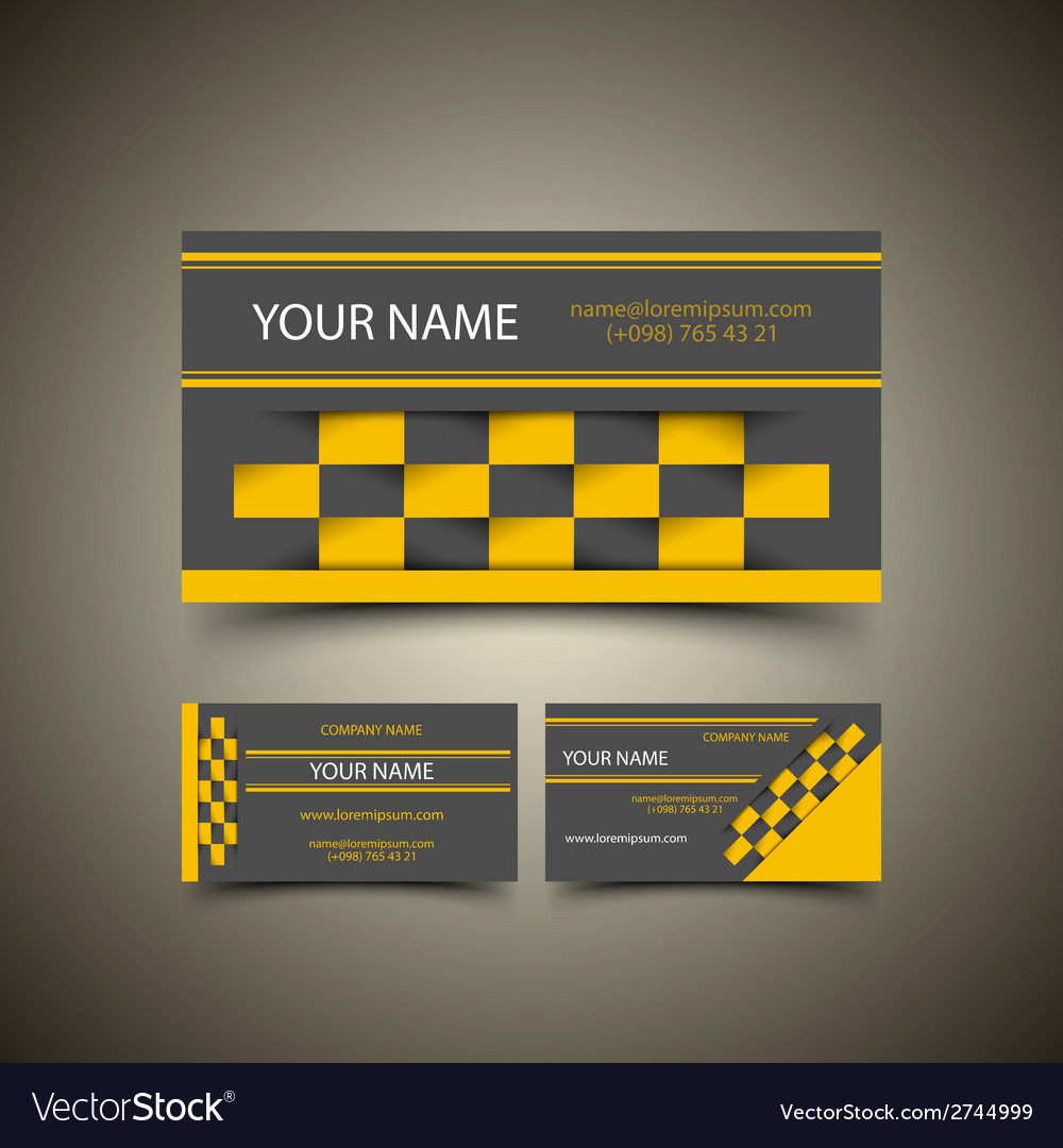Taxi business card set Royalty Free Vector Image