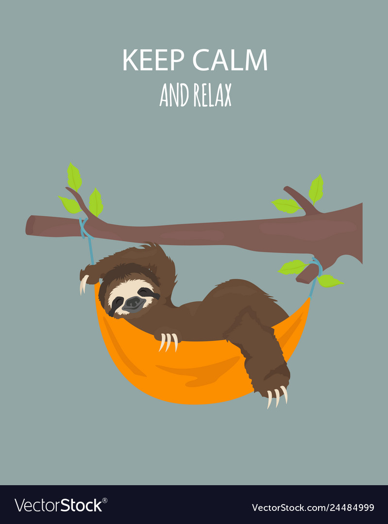 The story of one sloth traveling holiday funny Vector Image