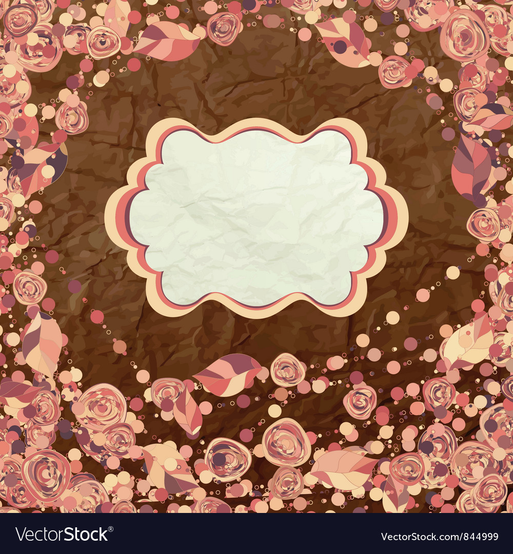 Vintage Rose Card