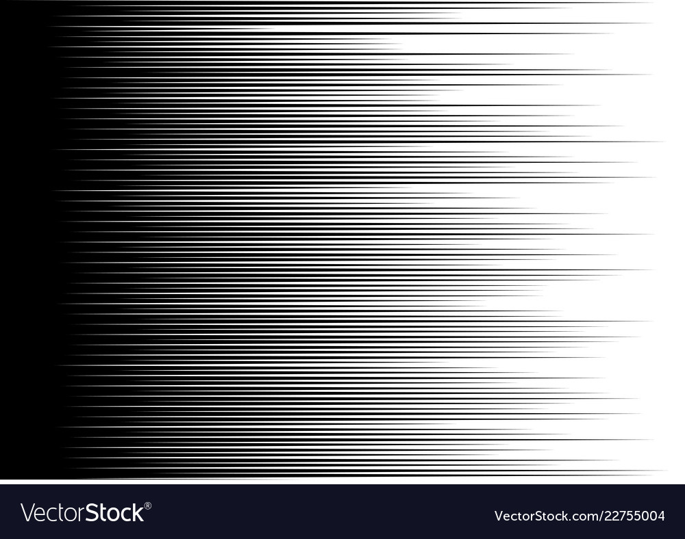 Abstract black speed line motion on white