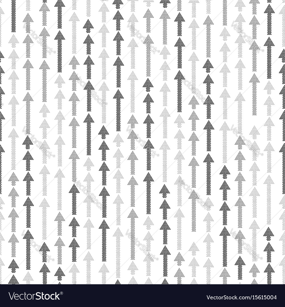 Abstract white seamless pattern arrow up