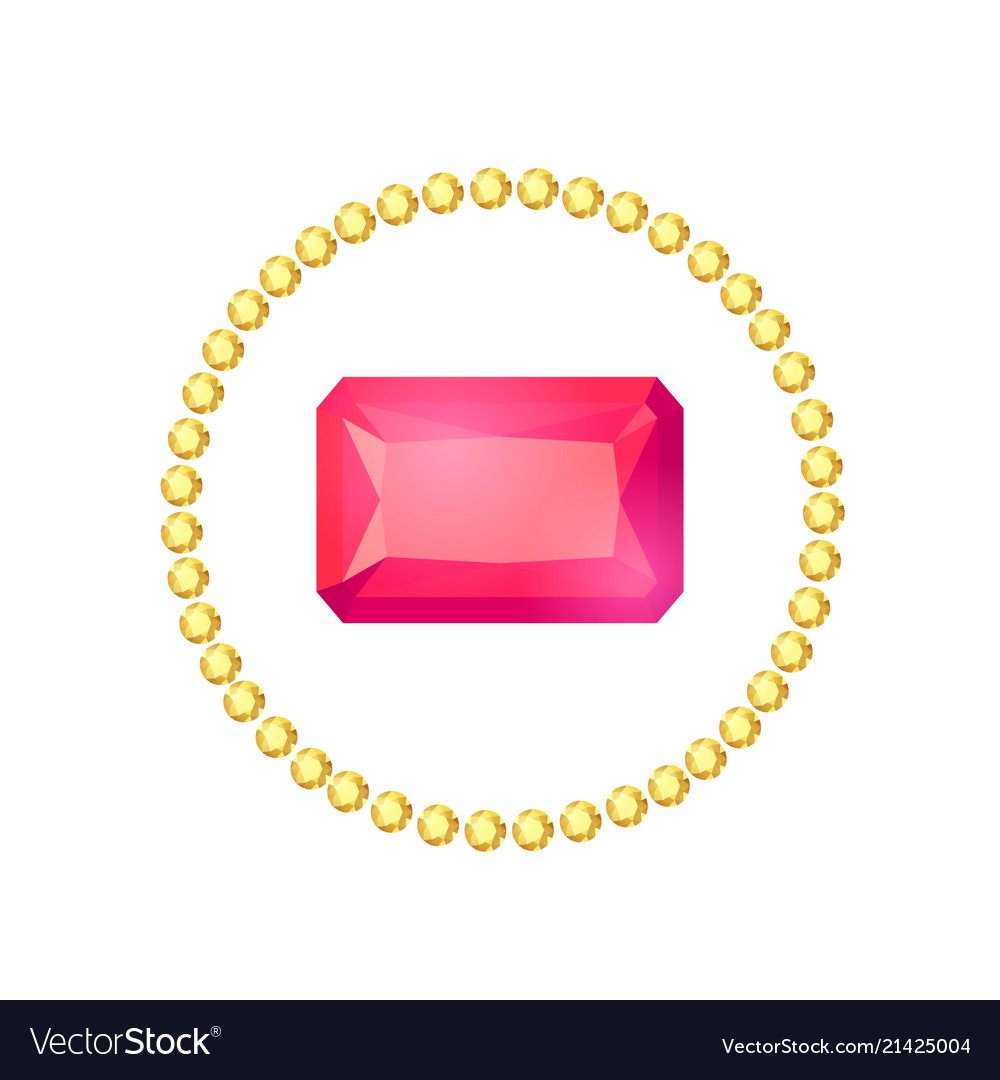 Cartoon gem circle frame