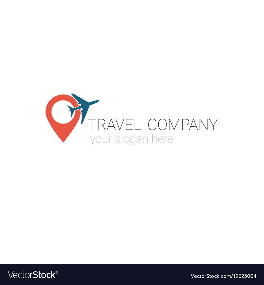 creative logo of travel agency tourism company vector image