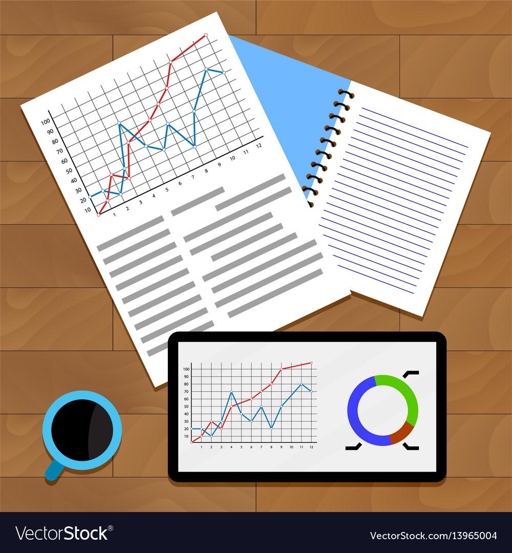 Exchange data chart vector image