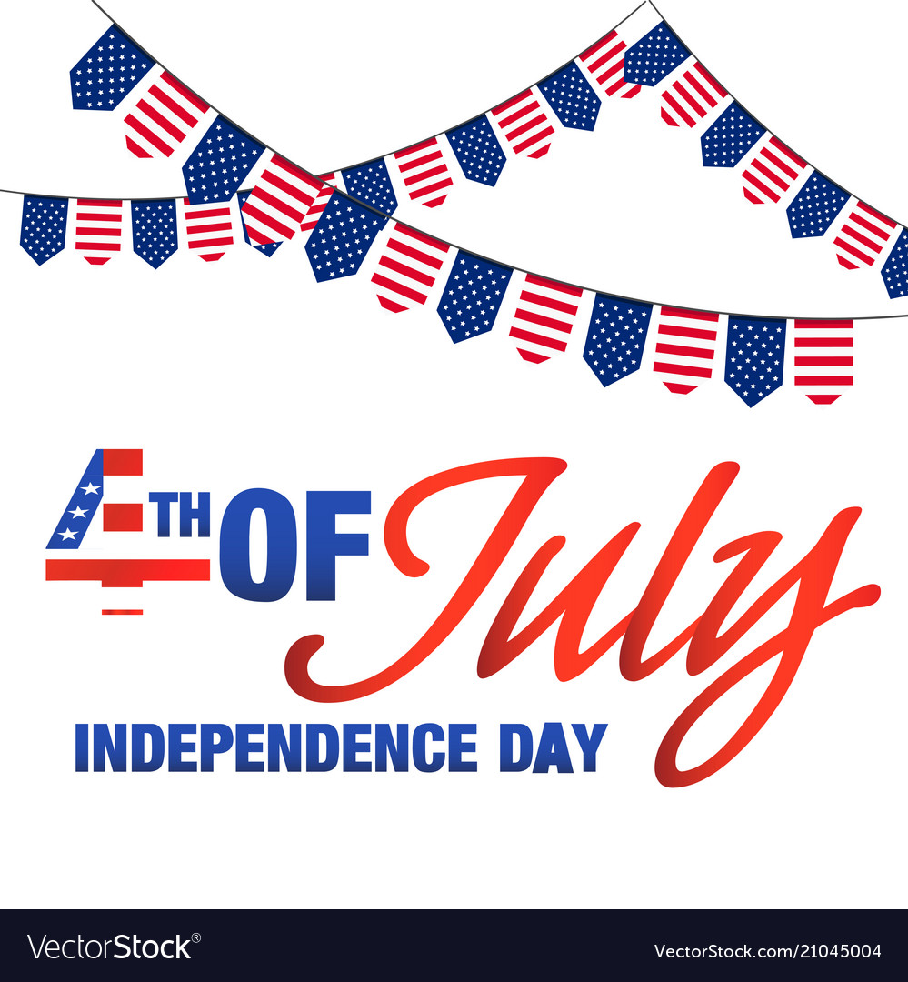 Fourth of july independence day united stated flag