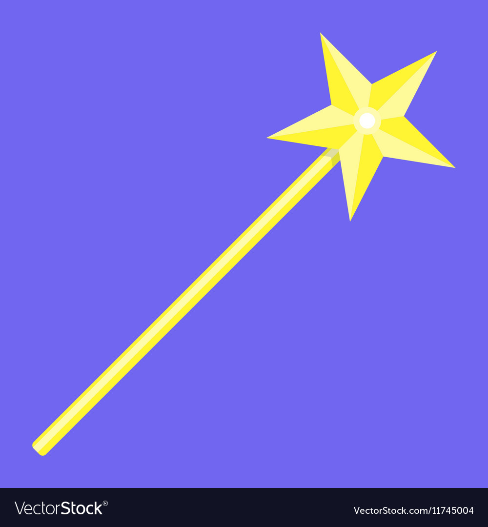 Magic wand with star vector image