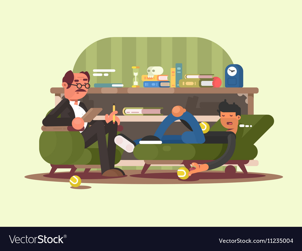Psychologist Man In Office Vector Image