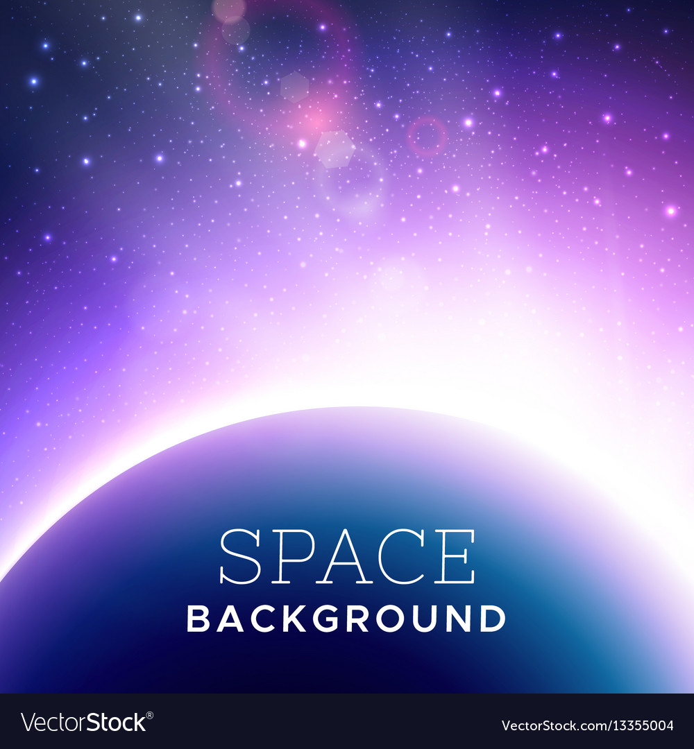 Realistic cosmic background vector image
