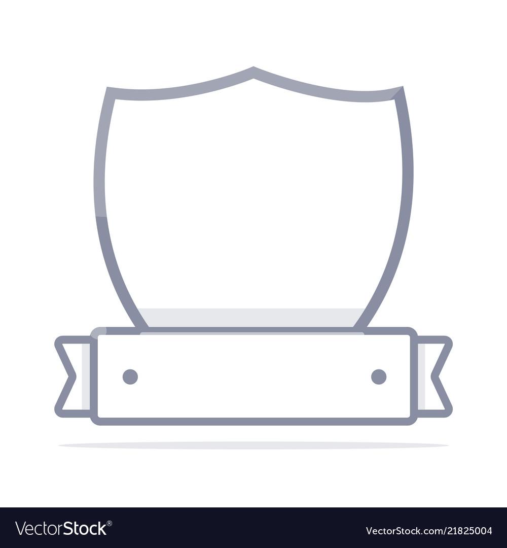 Simple security logo minimalistic linear design