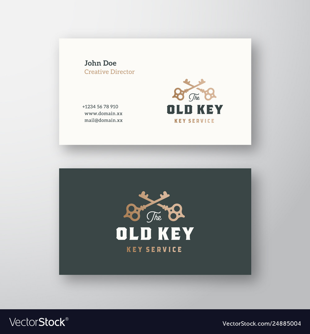 The old key abstract sign or logo and