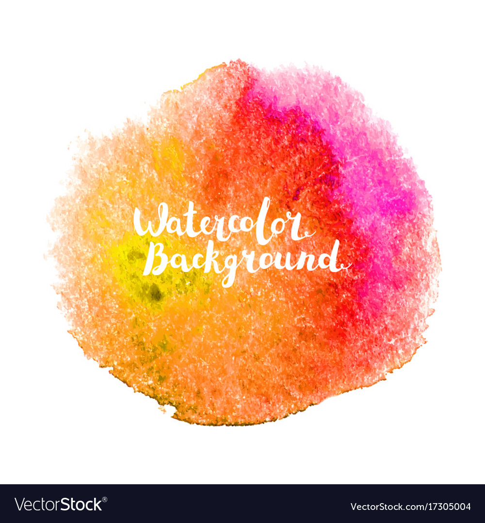 Watercolor background with lettering