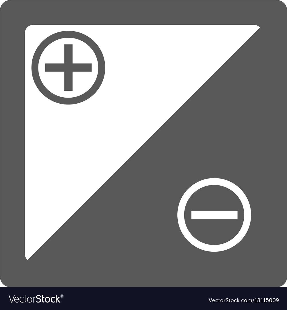 Accumulator icon simple vector image