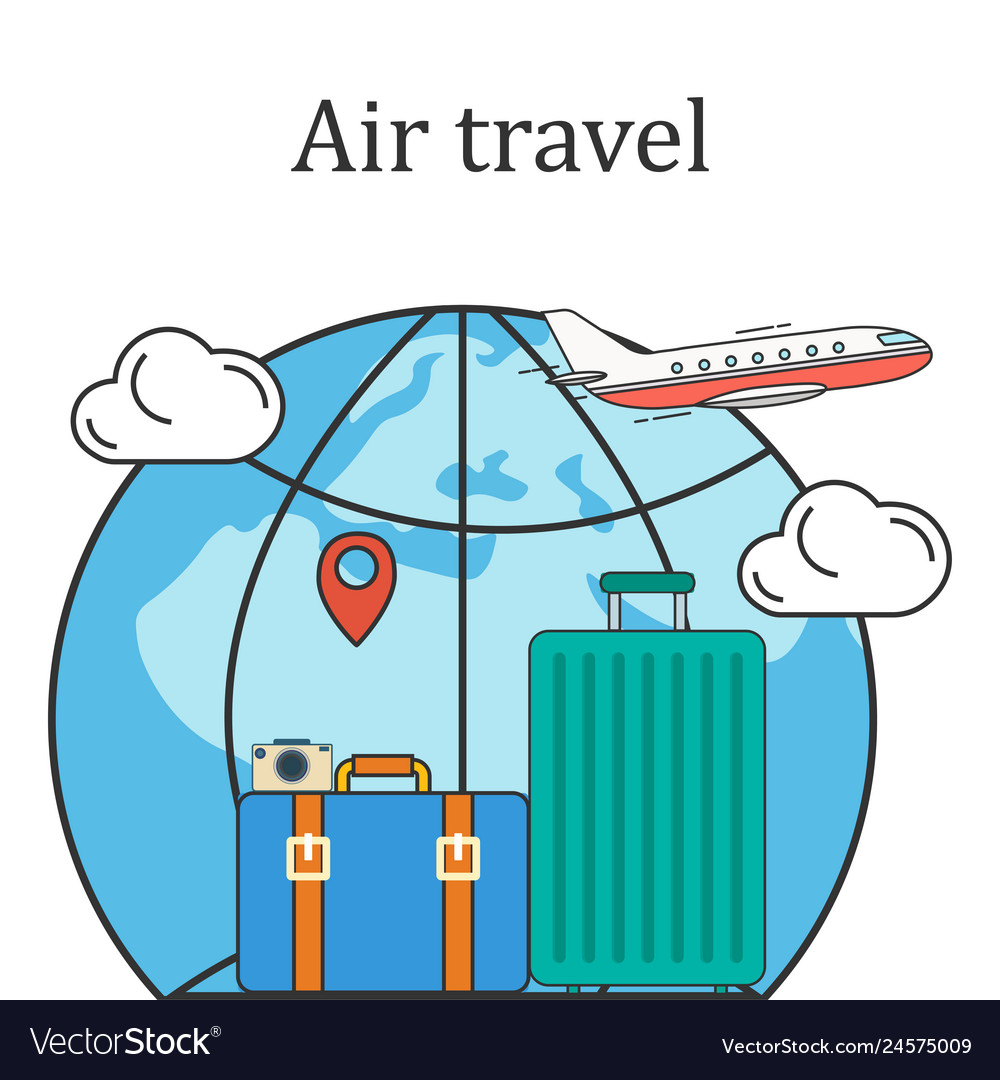 Air travel concept image