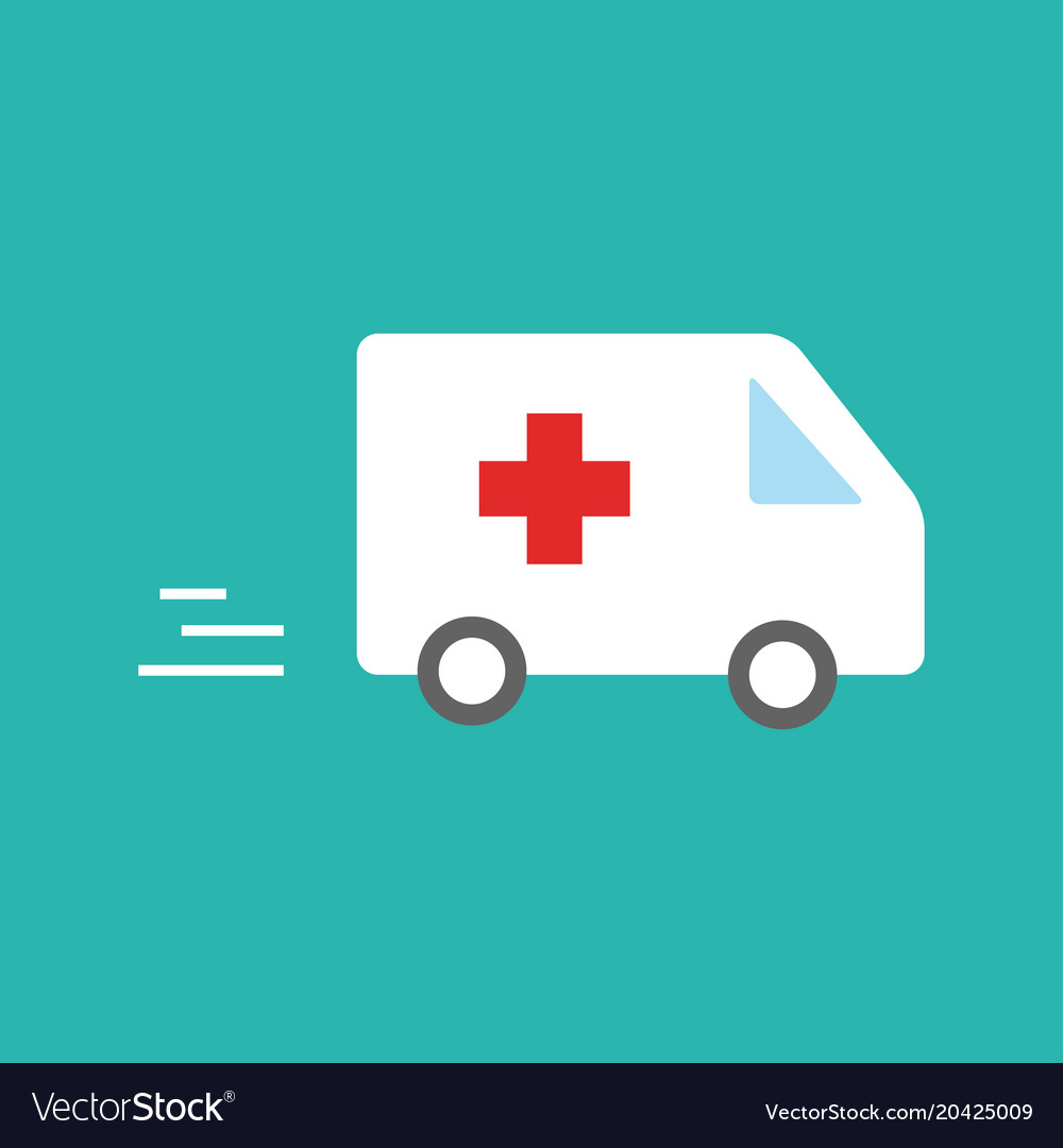 Ambulance car - emergency sign - medical