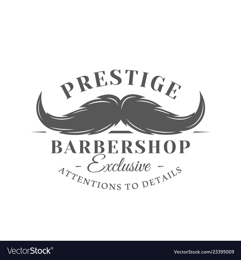 Barbershop label isolated on white background