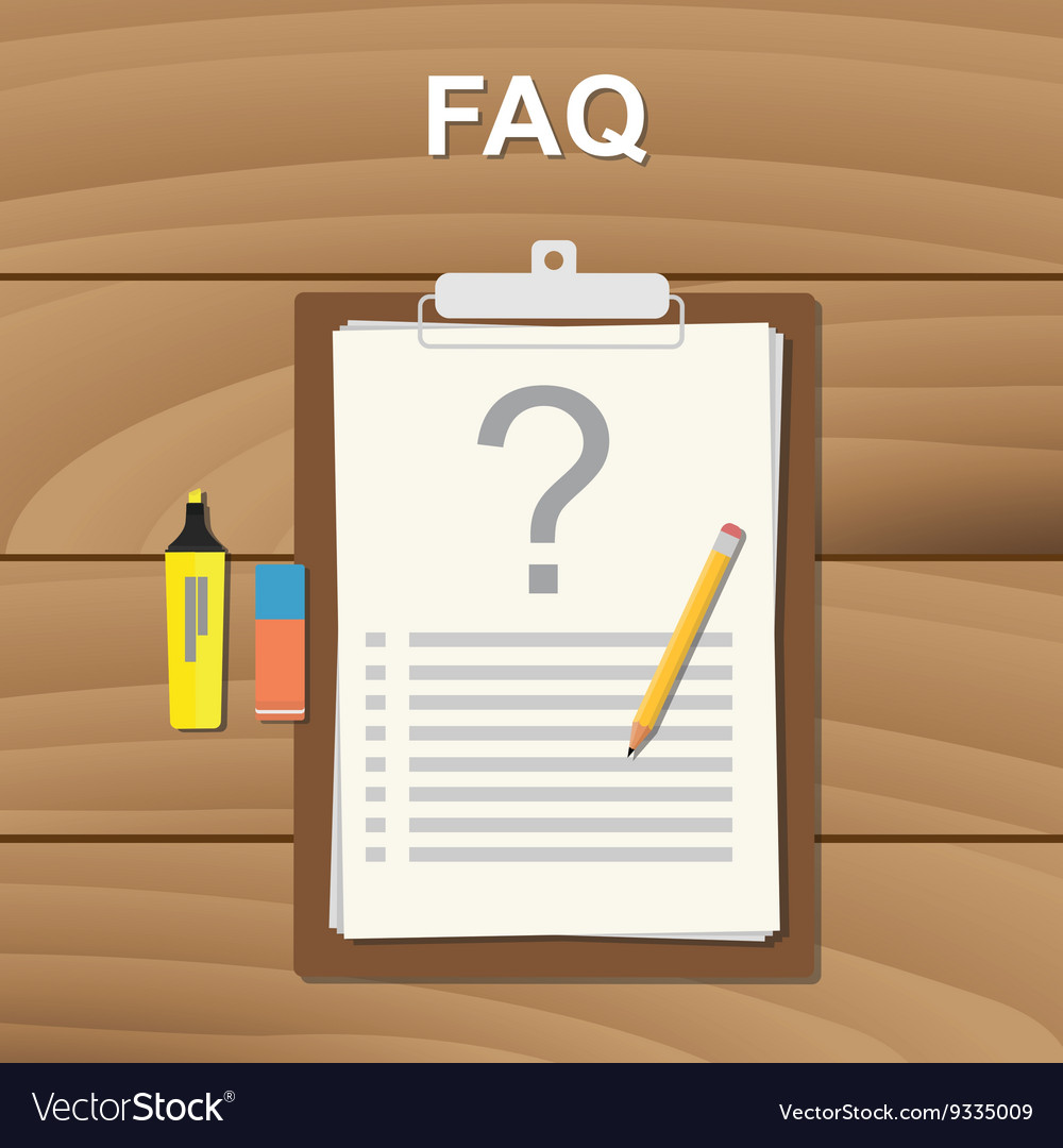 Faq frequently aksed question checklist note on