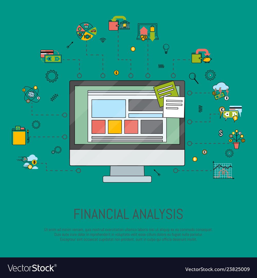 Financial analysis banner