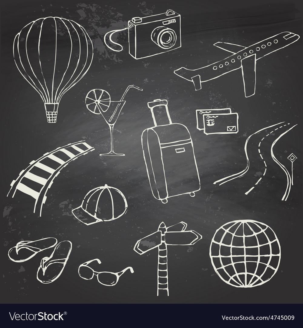 Icons travel on blackboard