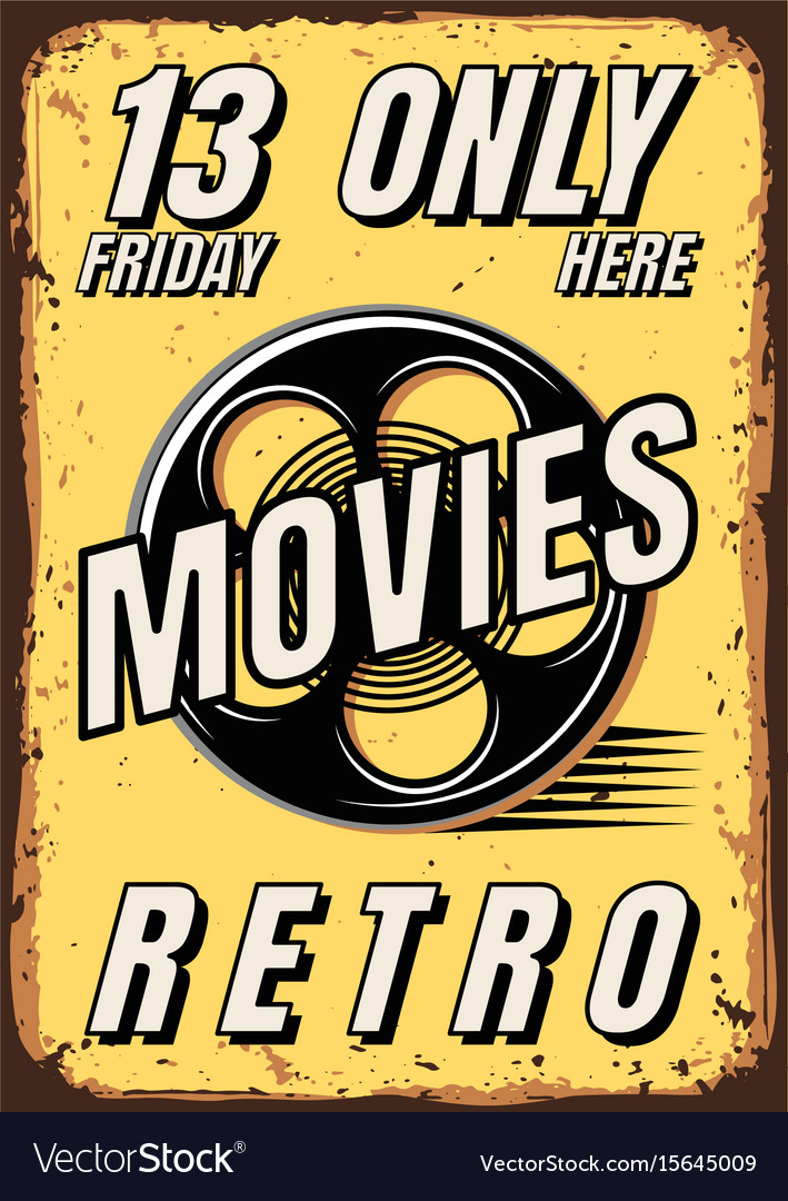 Posters of films in retro style