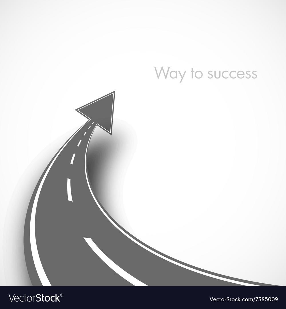 Road with arrow vector image