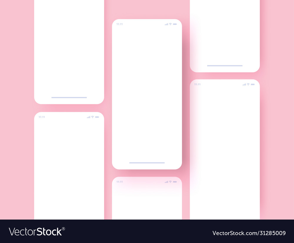 Smartphone touchscreen mockup concept