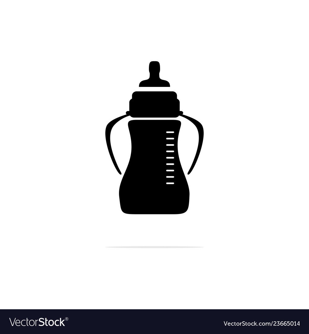 Baby bottles icon concept for