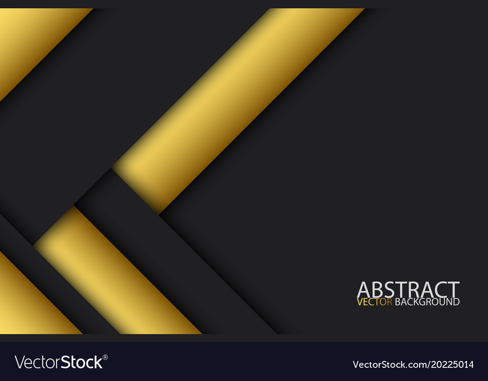 Black And Gold Modern Material Design Abstract