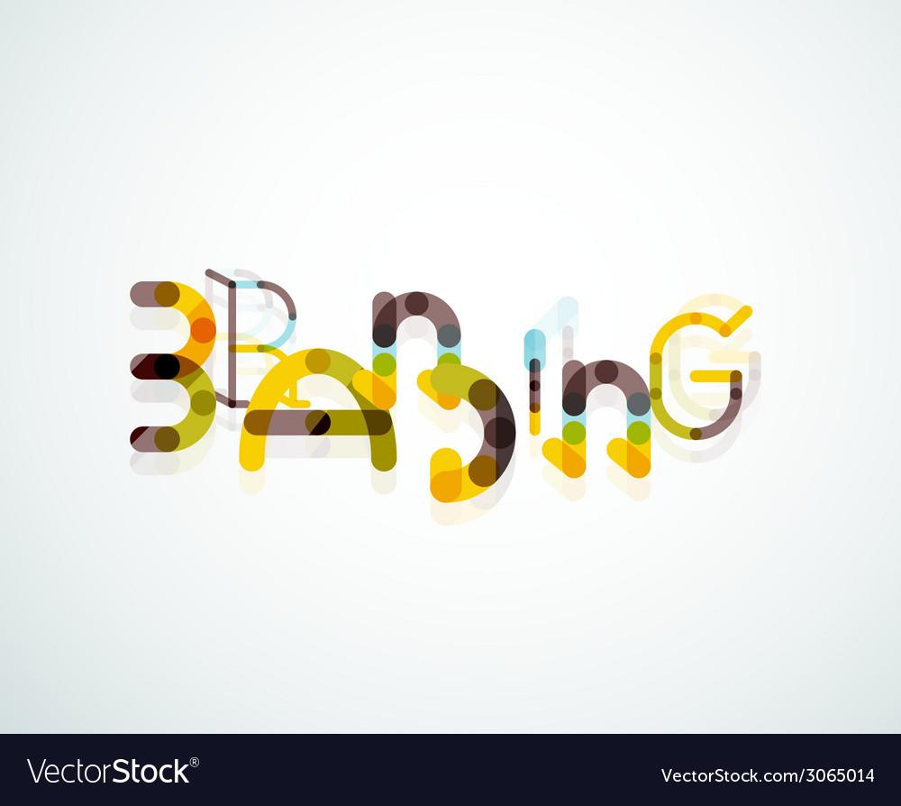 Branding font word concept