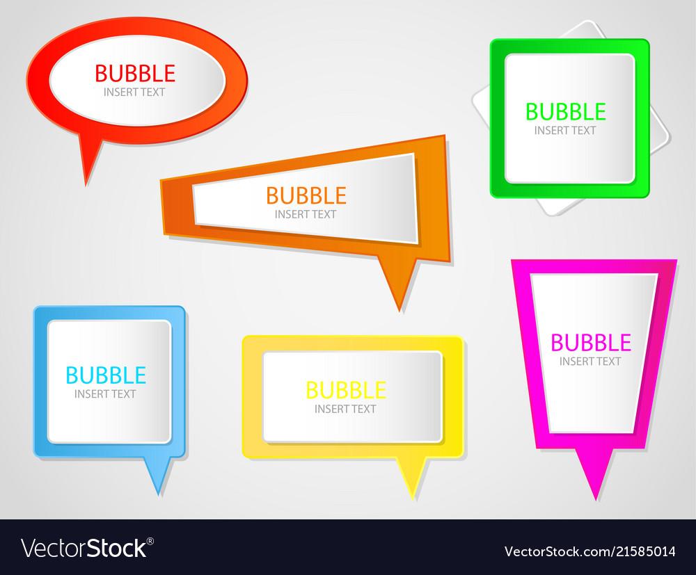 Bubble banner label ribbon message