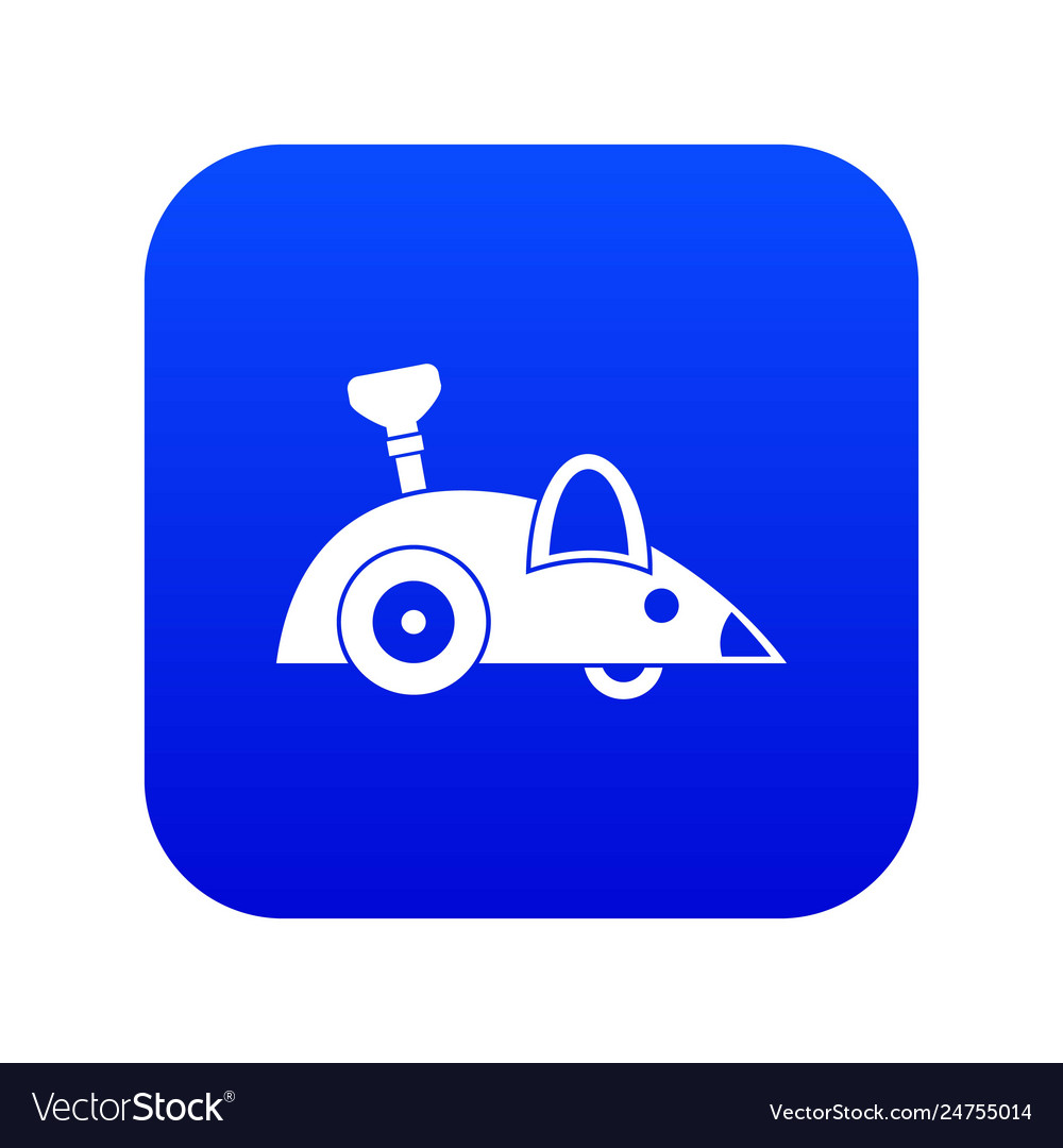 Clockwork mouse icon digital blue