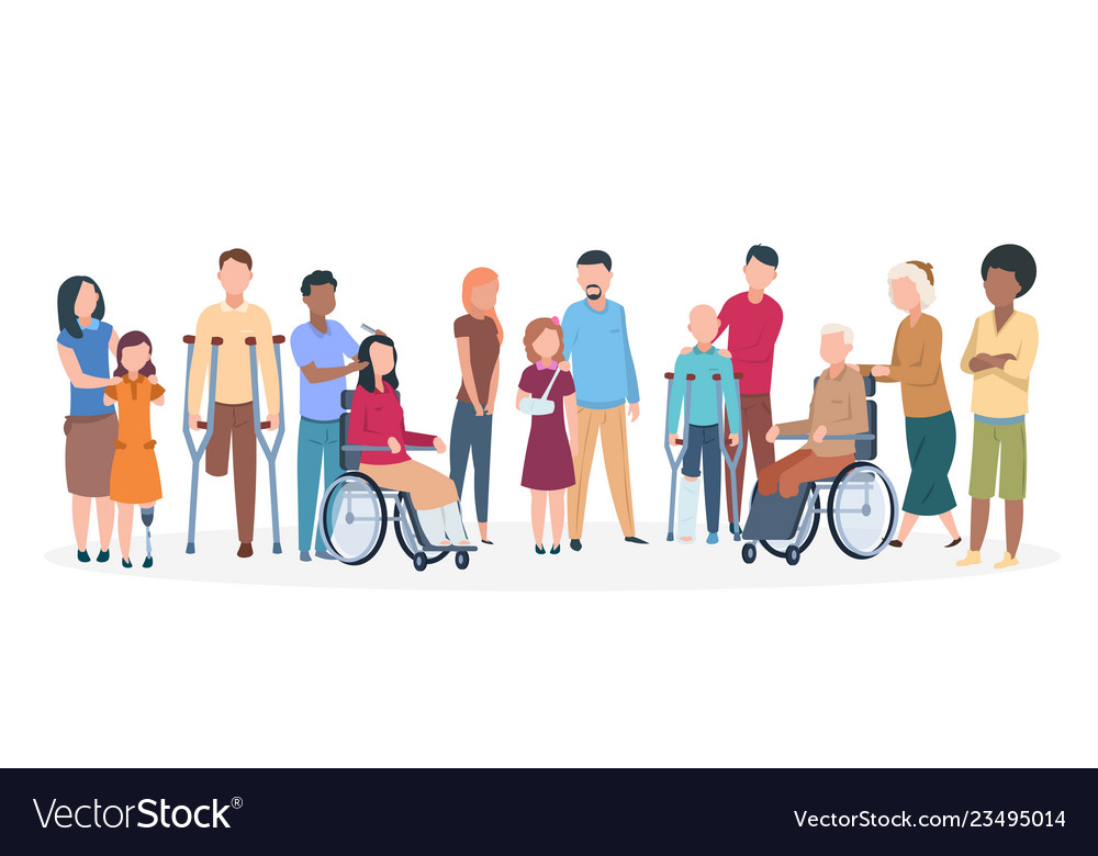 Handicapped people people with disabilities happy