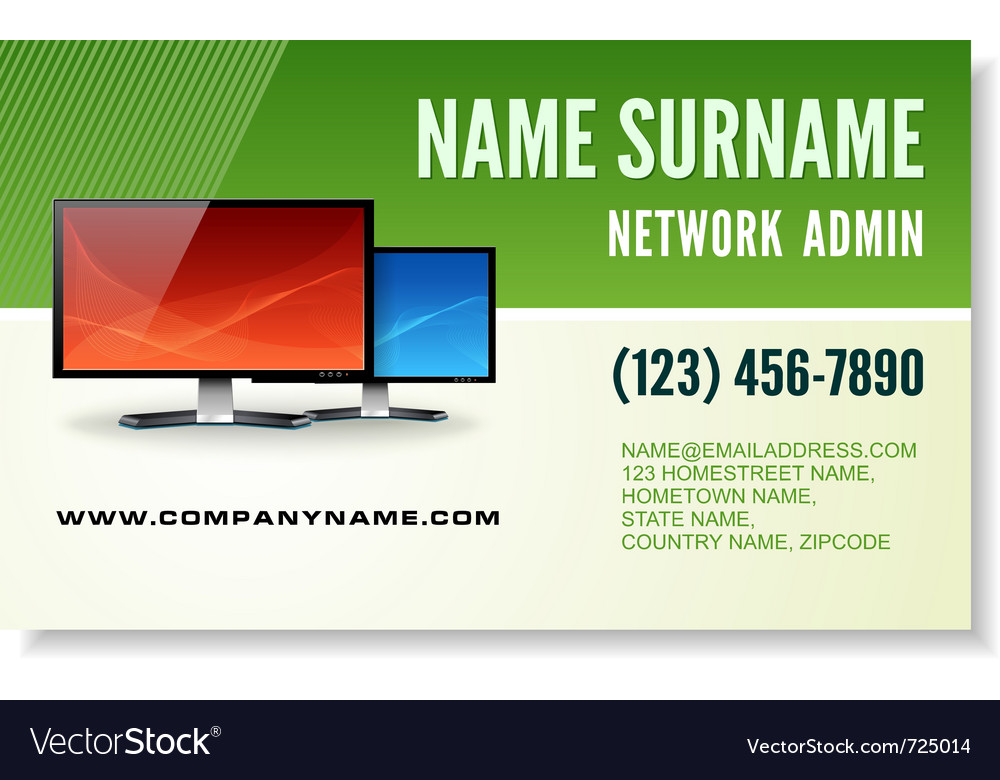 Information technology business card vector image