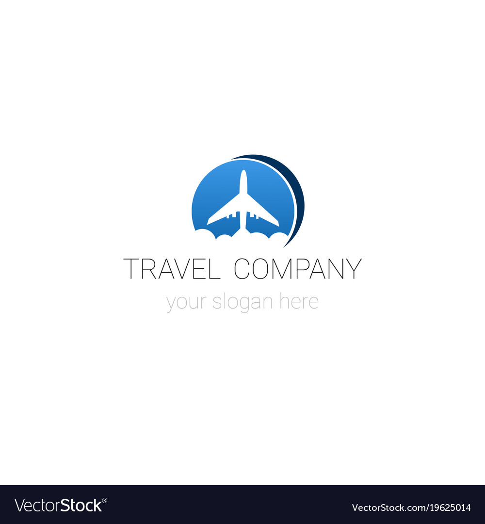 Travel company logo template tour agency emblem