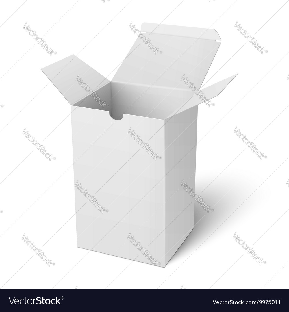 White open vertical paper box template royalty free vector white open vertical paper box template vector image maxwellsz