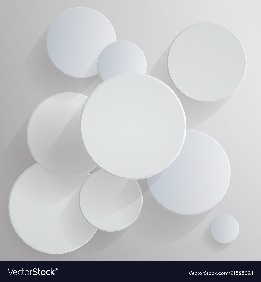 Circular business pattern design abstract white