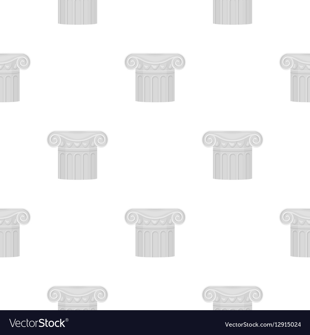 Column icon in cartoon style isolated on white