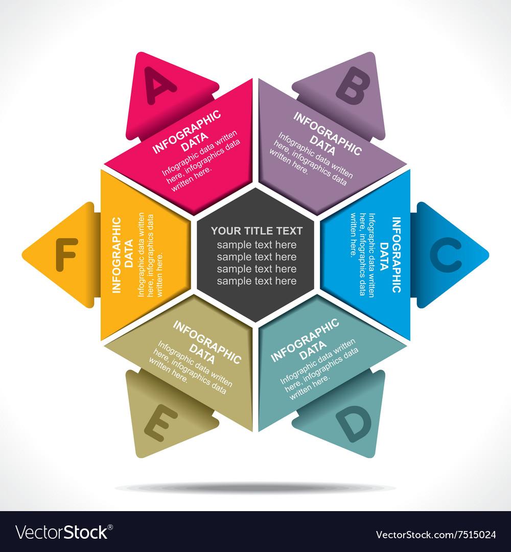 Creative colorful arrow info-graphics design