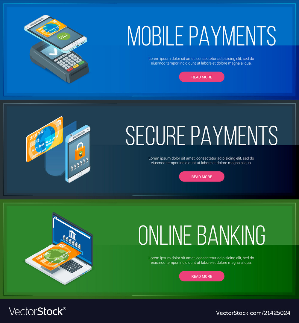 Online banking banners set