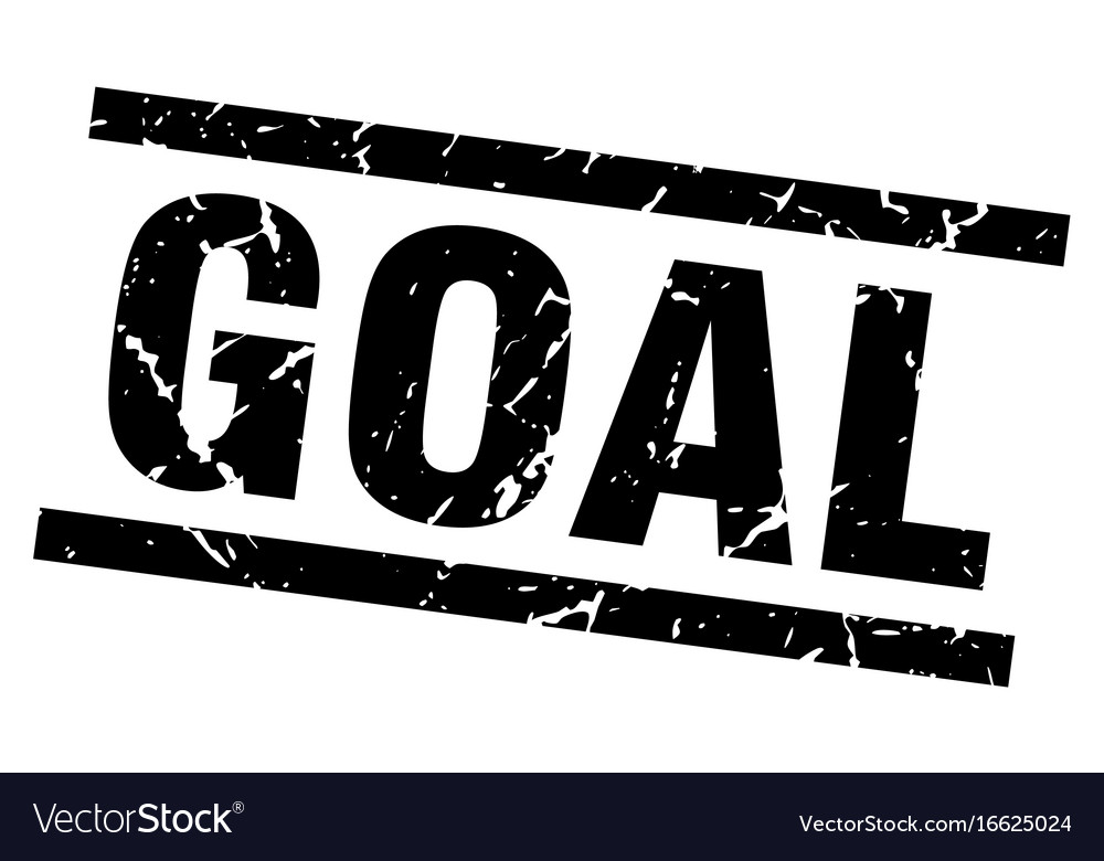 Square grunge black goal stamp vector image on VectorStock