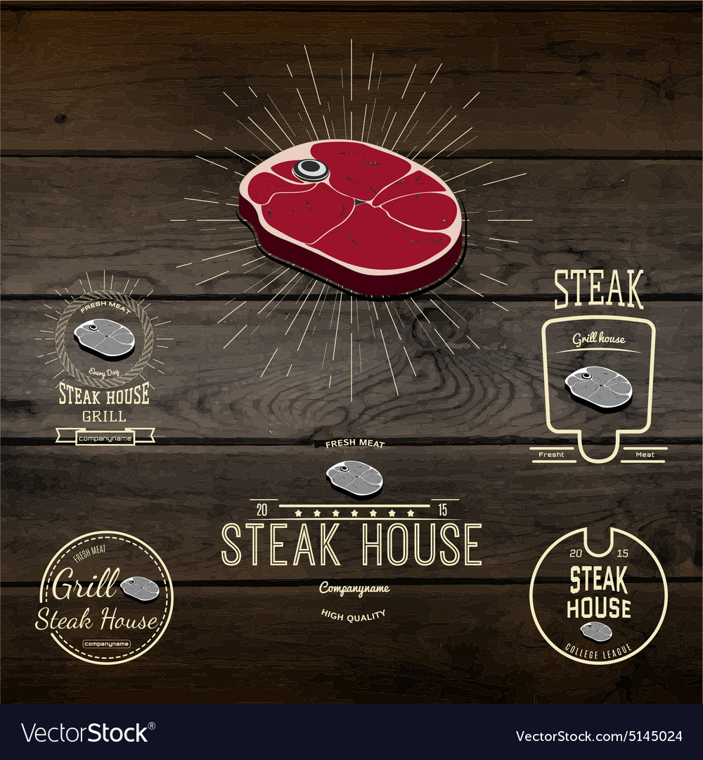 Steak house badges logos and labels for any use
