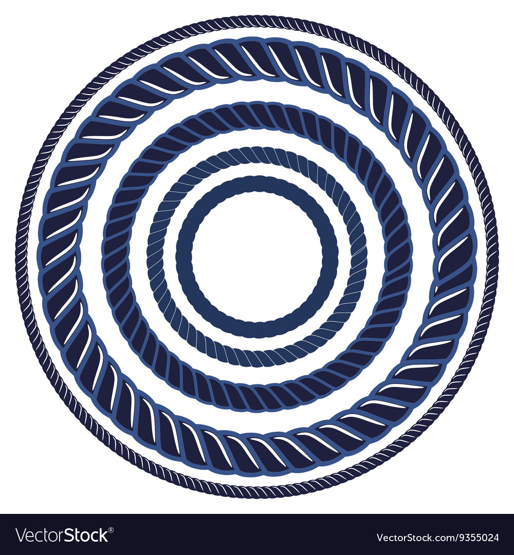 Twine rope navy blue marine brush Pattern string