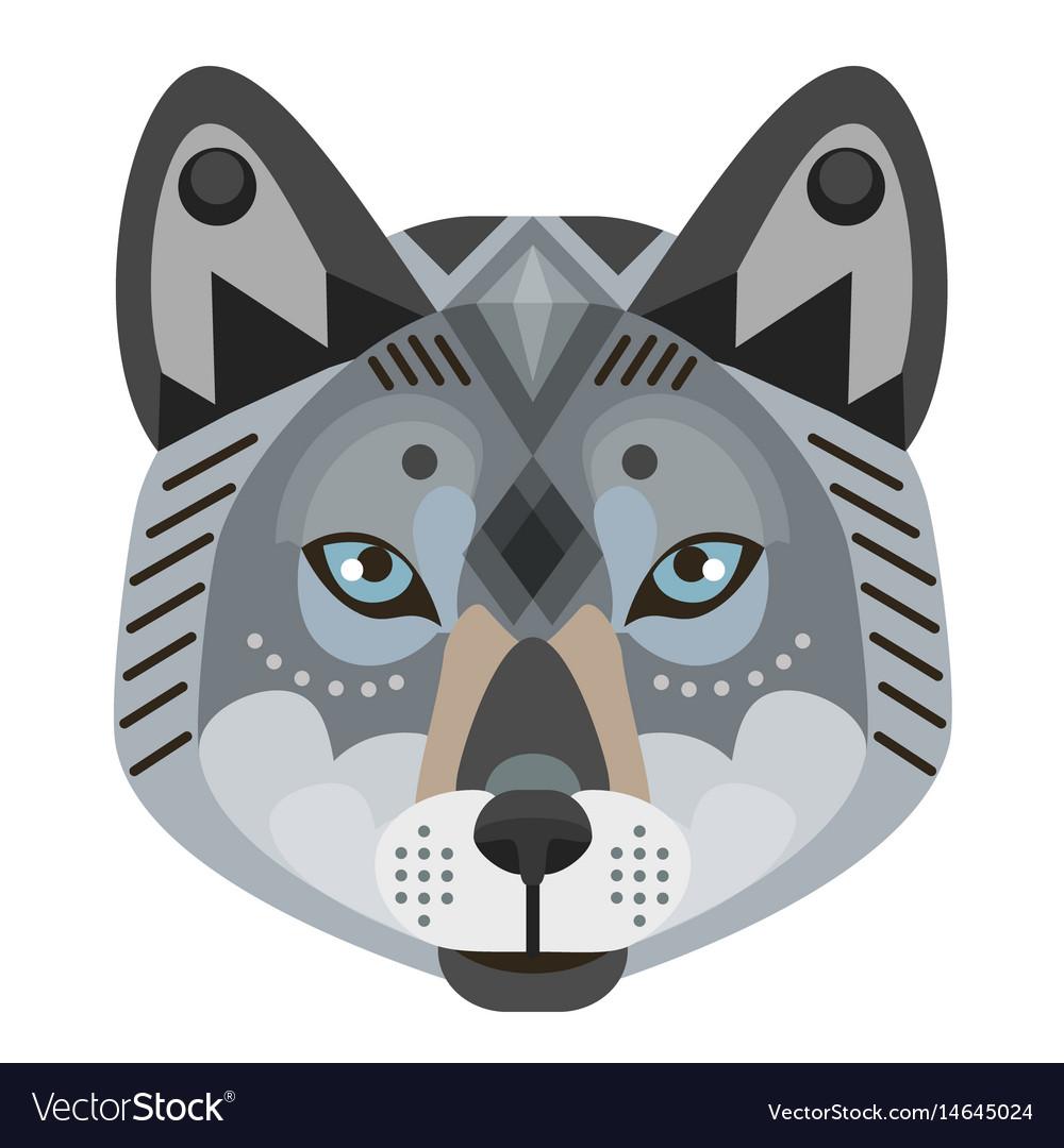 Wolf head logo decorative emblem