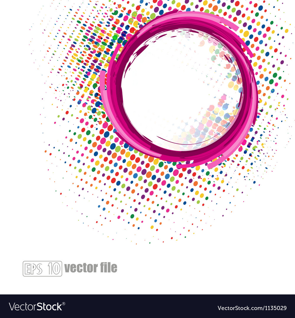 Abstract colorful swirly vector image